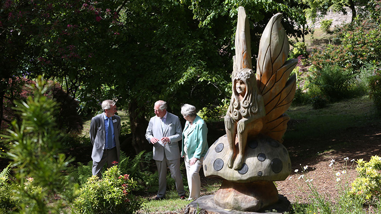 The Duke was given a guided tour of the Park, including the enchanting Fairy Dell.