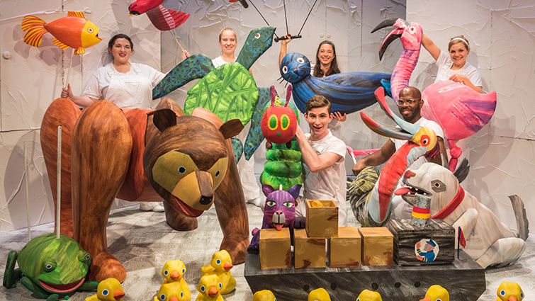 The Very Hungry Caterpillar features a host of colourful puppets