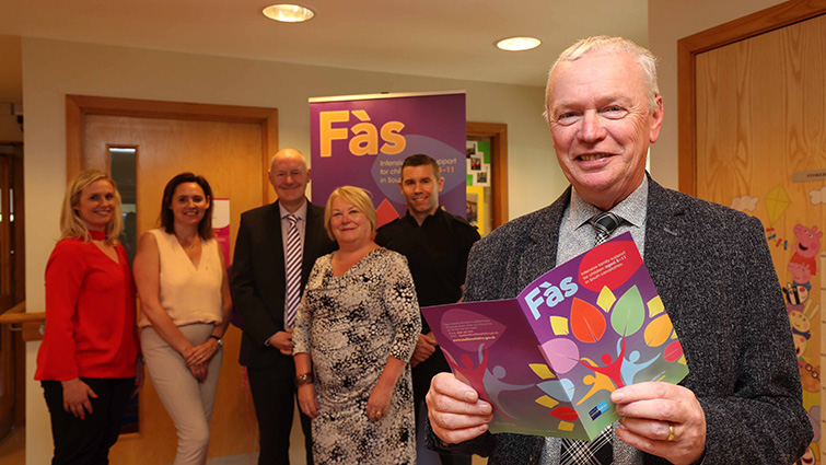 Councillors and officers at the launch of the new Fas team