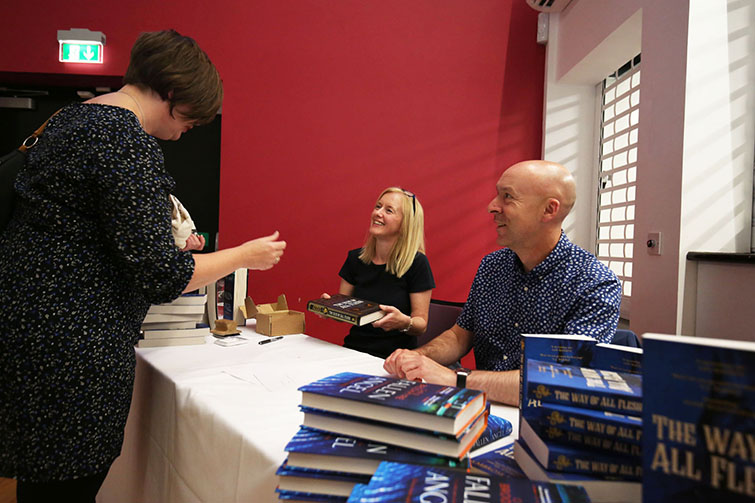 Chris and Marisa signed copies of their novel for the sold out audience.