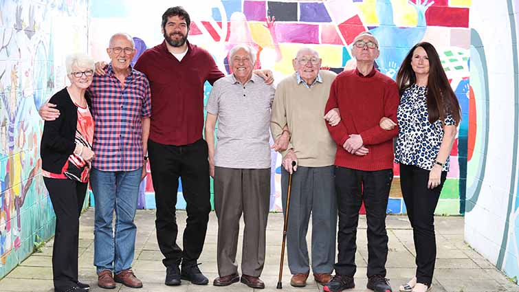 The four men who defied General Pinochet are pictured with the filmmaker and a representative from South Lanarkshire Council