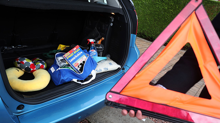 Some of the emergency kit it is advised motorists should carry with them