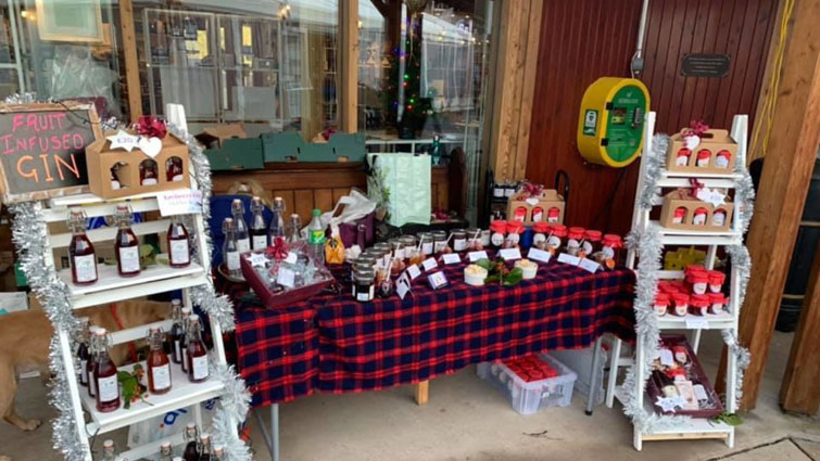 shop front selling selection of products
