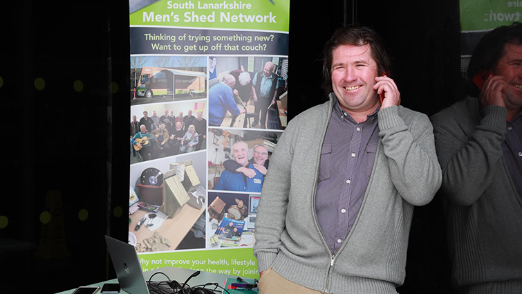 Paul Creechan discusses South Lanarkshire's Men's Shed work in an online interview.