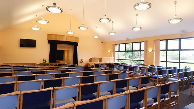 interior view of crematorium service room