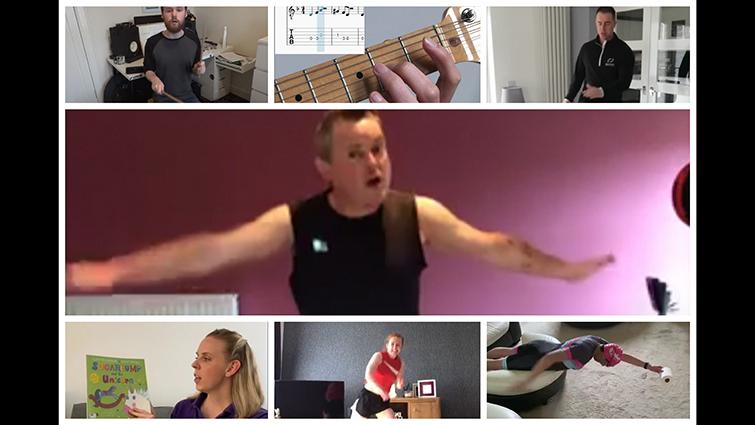 montage of SLLC online programmes