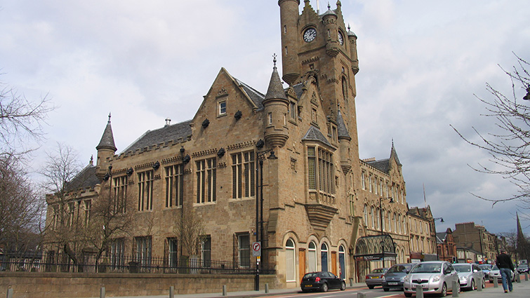 A view of Rutherglen Town Hall