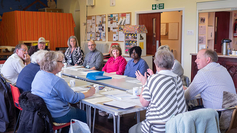 Members of Tarbrax Community Council at a meeting