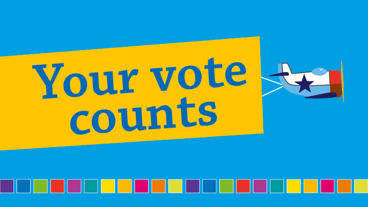 Your vote counts logo