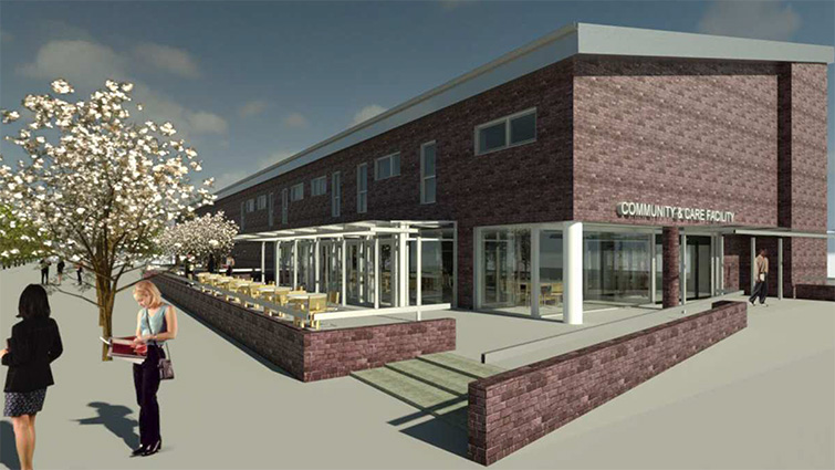 This is an artists impression of the proposed new care facility in Blantyre